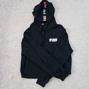 Victoria's Secret PINK crop hoodie sweatshirt